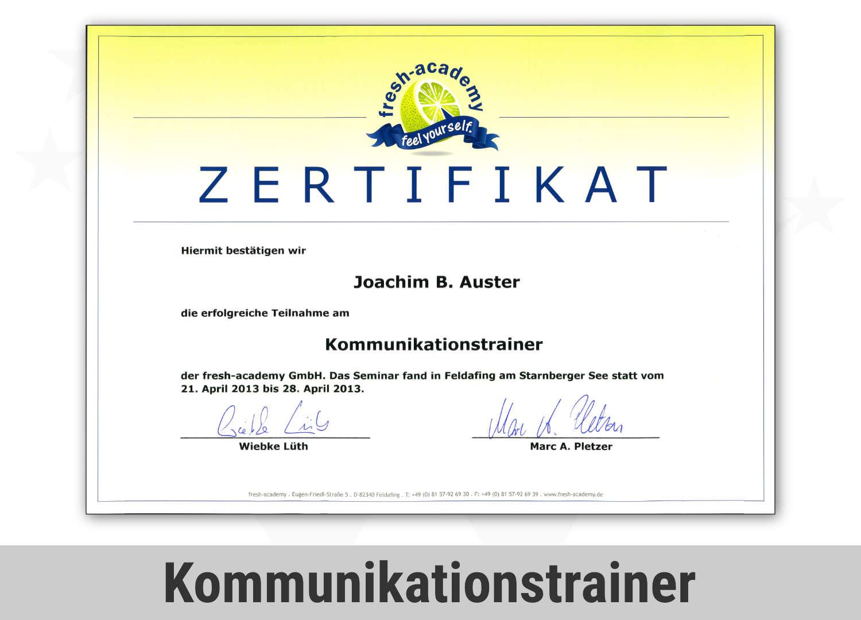Zert Psykom Jba Kommunikationstrainer 2013